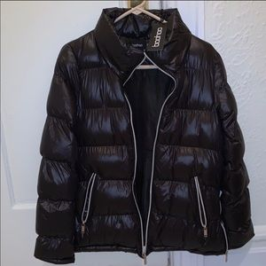 Boohoo black puffer jacket